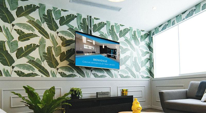 tv salle d'attente cabinet